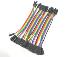 40pcs/lot 10cm 40P 2.54mm dupont cable jumper wire dupont line female to female dupont line free shipping
