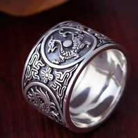 Chinese Traditional Culture 999 Sterling Silver Ring 2