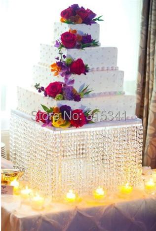 Size Wedding Crystal Cake Stand 20 Diameter 12 Tall 50cmx30cm