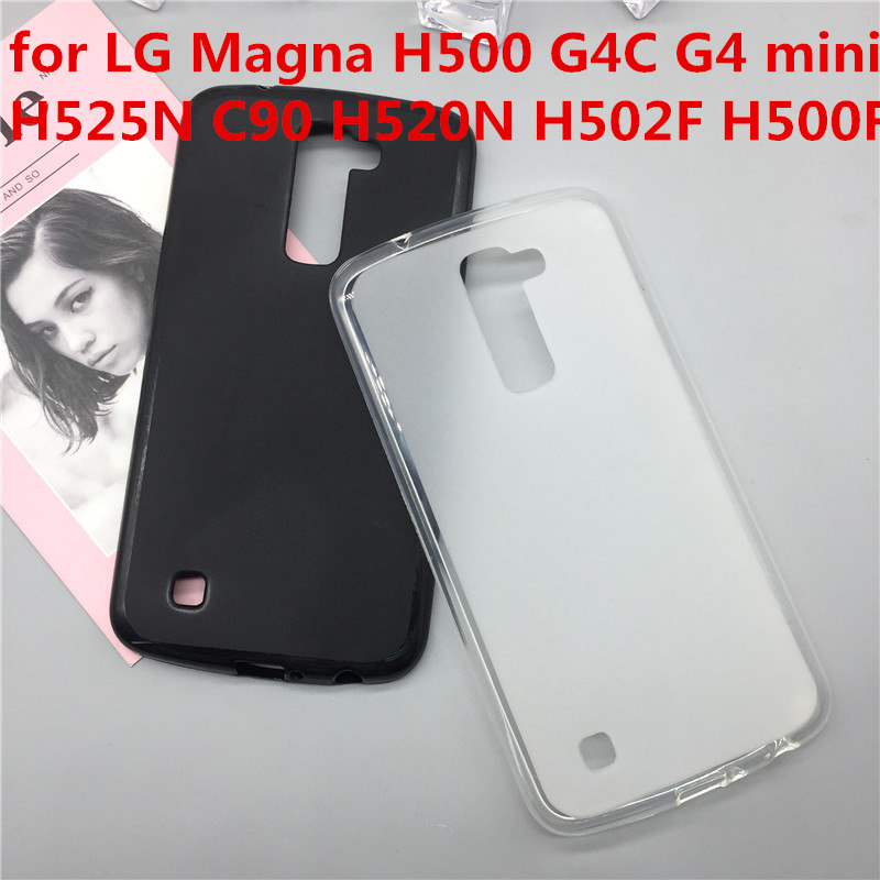 Case Soft Silicon Phone Para for LG Magna H500 G4C G4 mini H525N C90 H520N H502F H500F fundas Full Cover Shell Black Cases Coque image