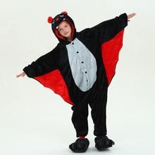 Детская Пижама-комбинезон в виде животных «летучая мышь» комбинезон для косплея пижамы для 3-10years для маленьких мальчиков и девочек мягкие фланелевые пижамы, одежда для сна, одежда для сна