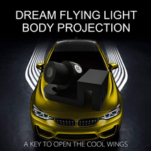 Car/Motorcycle LED Decorative Light Welcome Emergency Signal Wings Lamp Projector Shadow Lighting Fog Warning 4 Colors M1