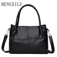 MENGXILU Luxury Women Handbags Brand Imitation Pu Leather Bags Large Capacity Female Shoulder Bag Ladies Fashion