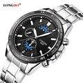 LONGBO Brand Men watch fashion stainless steel quartz wristwatches Military waterproof sports watch relogio masculino male clock