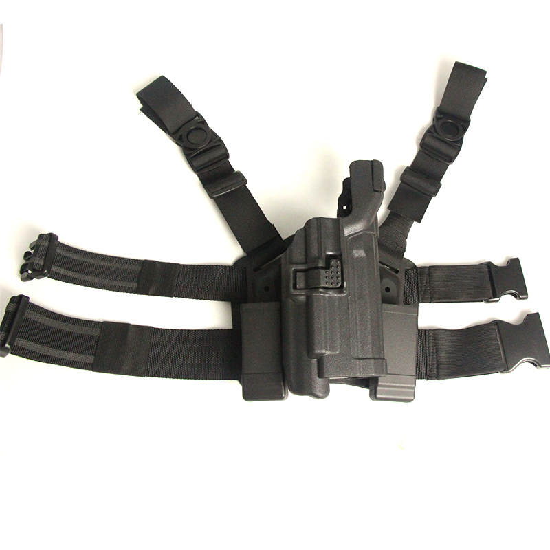 Tactical Pistol Thigh Holster With Light Bearing IPSC Paintball Airsoft Gun Leg Holsters For HK USP Military Equipment