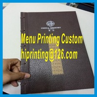 Factory Price Hardcover Restaurant Menu Printing Services