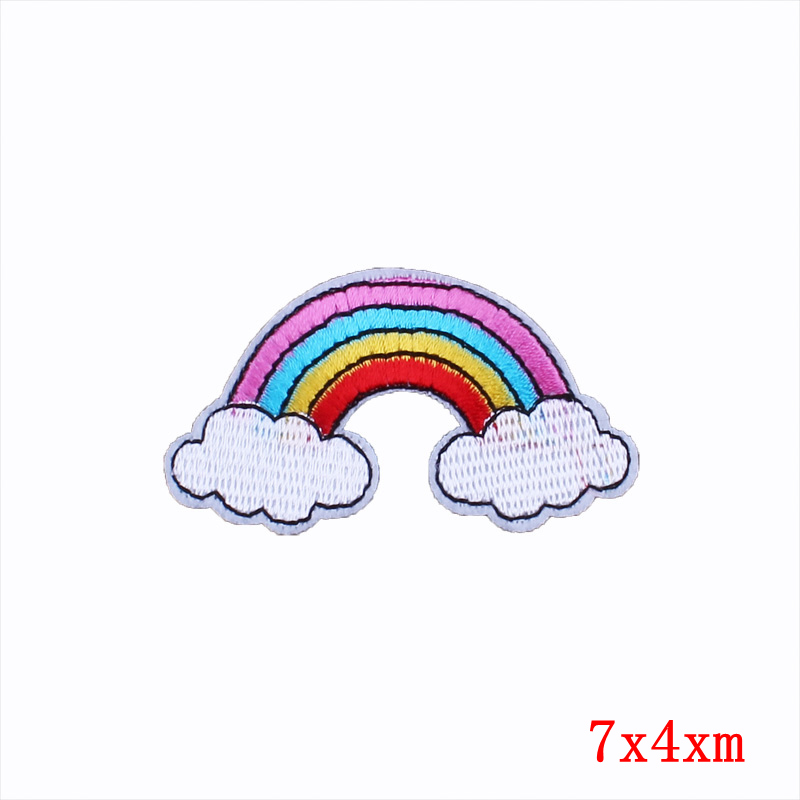 Pulaqi Diamond Rainbow Gay Flag Iron On Patches For Clothing Embroidered Heat Transfer Patches Sticker For T shirt Appliques F in Patches from Home Garden