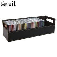 CD Storage Box Case Leather Travel Waterproof Portable Data Line Earphone Wire Organizer Cables Container Case