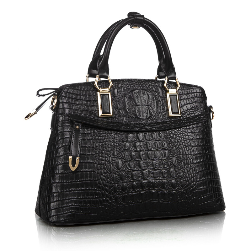 Hot Sale women handbag women messenger bags ladies shoulder bag large bolsa genuine leather handbags Crocodile pattern tote bags цена