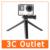Brazo de agarre gopro 3-way xiaomi yi sj4000 sj5000 cámara monopod montaje de trípode para gopro acción accesorios de la cámara