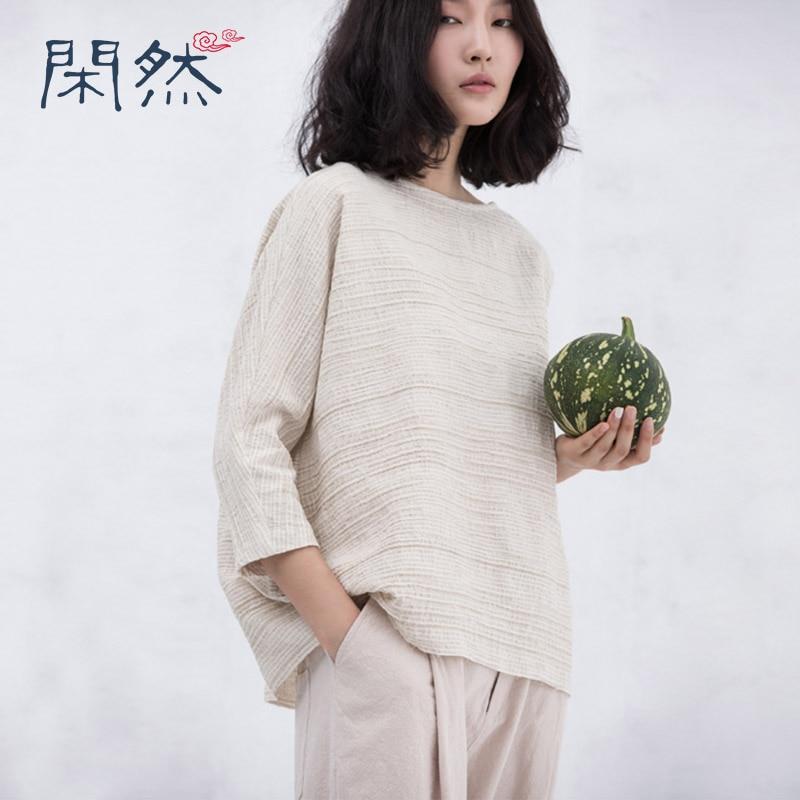 XianRan Women Loose font b Blouses b font Casual Cotton font b Shirts b font Fold