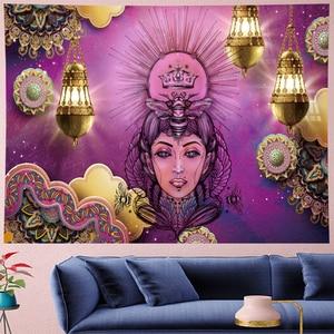 Image 1 - Marokko Psychedelic schönheit Tapisserie mandala Wandbehang hippies indian Home Decor böhmischen wand tuch Strand Matte GN. PAPAYA