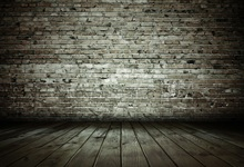 Laeacco Old Brick Wall Wooden Floor Portrait Grunge Photography Backgrounds Customized Photographic Backdrops For Photo Studio 12ft vinyl cloth dark old brick wall wood floor photo studio backgrounds for model newborn portrait photography backdrops f 257