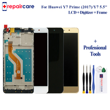 5.5 inch Full LCD DIsplay+Touch Screen Digitizer Assembly + Frame For Huawei Y7 Prime 2017 TRT-TL00 / Nova Lite+ TRT-LX1 TRT-LX3