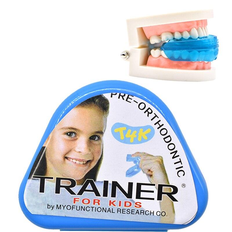 1 pc T4K Kinder Dental Zahn Kieferorthopädie Appliance Trainer Kinder Ausrichtung Hosenträger Mundstücke für Zähne Gerade Zahn Pflege