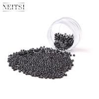 Neitsi Silicone Nano Ring Beads For Micro Loop Links Fusion Keratin Human Hair Extensions Blonde 1000
