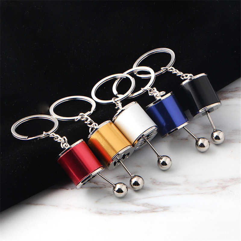 Creative Race Car Stalls Keychains Six-Speed Manual Shift Gear Keychain Auto Car's Parts Toy Short Shifter Knob Metal Gift