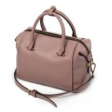 купить Women Handbag Women's Genuine Leather Bags Female casual Handbag Ladies Boston package Fashion Shoulder Bag Luxury Messenger bag по цене 2347.98 рублей