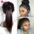 straight synthetic hair lace front wigs with baby hair synthetic wig for black woman top quality high pony tail lace front wigs