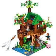 443pcs Children Educational Toys Compatible Legoing Fish Island Tree House Assembling Blocks Figures Kids Birthday Gift New K25