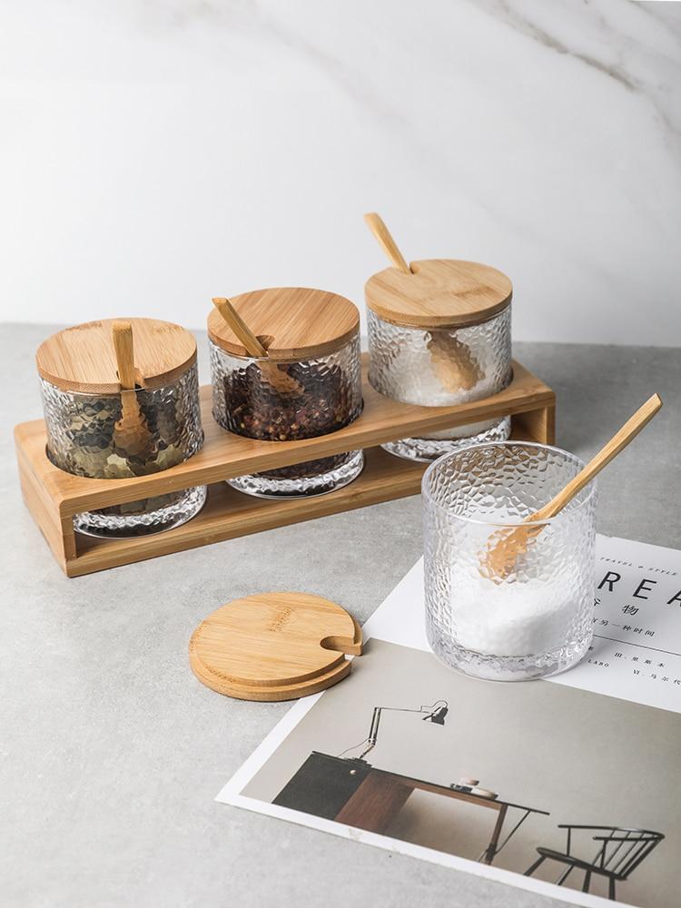 Japanese Style Hammer Glass Spice Shaker Pot 1