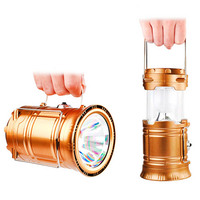 LED Exterieur Luminaire 6LEDs Solar Power Collapsible Flashlights Portable Lamp LED Rechargeable Hand Lamp Camping Lantern