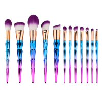 12pcs Rhinestone Colorful Maquiagem Unicorn Makeup Brushes Brochas Unicornio Cosmetic Makeup Brush Set For Makeup