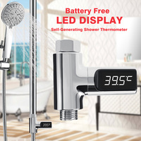 LW 101 LED Digital Water Shower Thermometer Battery Free Self Generating Electricity Home Water Baby Temperature