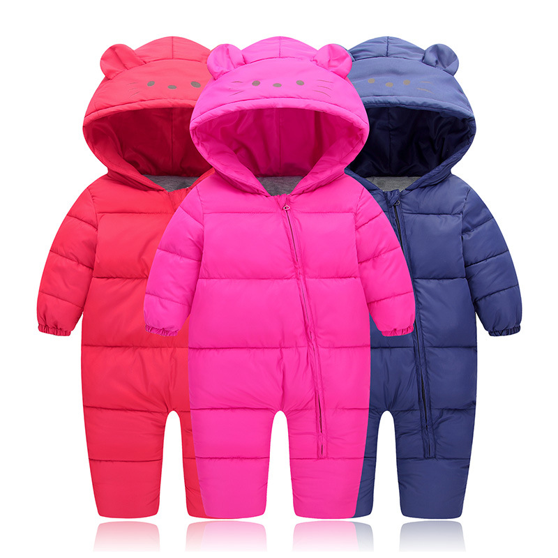 Down Cotton Coat Baby Rompers Winter Thick Boys Costume Girls Warm Infant Snowsuit Kid Jumpsuit Children Outerwear Baby Wear цена