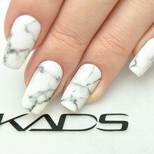 KADS serie de mármol pegatina para uñas Etiqueta de transferencia de agua pegatinas de Arte de uñas DIY envolturas de moda decoración de belleza accesorios de uñas