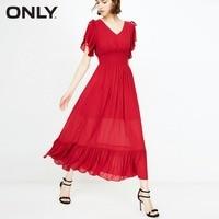 Только гофрированное платье с эластичной резинкой на талии женское | 118307558