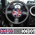 Estilo do carro Volante Do Emblema Do Emblema da Bandeira Nacional Adesivos Para Mini Cooper S R53 R56 Compatriota Union Jack Logotipo Do Decalque