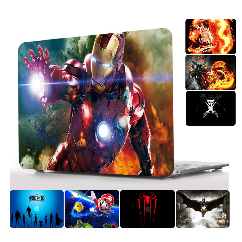 Movie Animation Cool Pattern Laptop Hard Case for MacBook Air Pro Retina 11 12 13 15 inch for Macbook Touch Bar A1707 A1706 Case pattern printing hard pc protective case for macbook pro 15 4 inch 2016 with touch bar a1707 marble grain dark grey