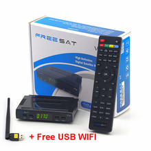 100% Genuino Freesat V7 HD 1080 P DVB-S2 de Satélite Digital TV Receptor + 1 unid WIFI USB Envío gratis