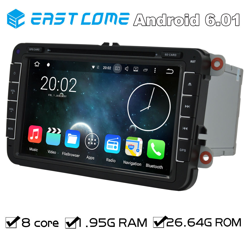Octa Core Pure Android 6.01 Car DVD GPS for Skoda Superb Yeti Patrick Fabia Seat Leon Toledo Altea Alhambra With Radio Bluetooth