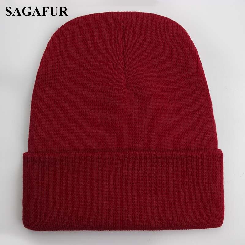 Solid Unisex Beanie Autumn Winter Wool Blends Soft Warm Knitted Cap Men Women SkullCap Hats Gorro Ski Caps 24 Colors Beanies 4