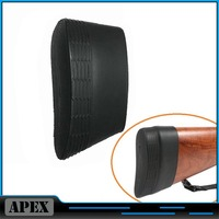 Hunting Tactical Silicone Rubber Slip-on Rifle Shotgun Recoil Butt Pad Buttpads Black Free Shipping