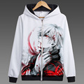 Hero catcher anime de tóquio ghoul kaneki ken kaneki ken revestimento do outono do hoodie anime outono moletom com capuz moletom com capuz jaqueta de impressão hoodie branco