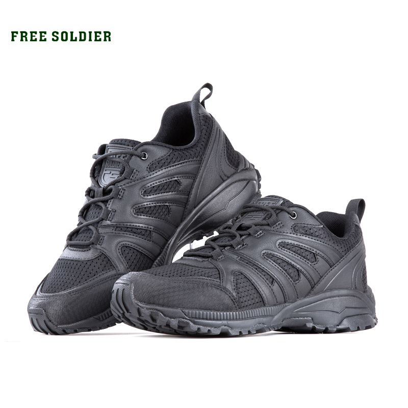 FREE SOLDIER men's outdoor sports wear-resistant damping hiking shoes mesh breathable wear cross-country lightweight shoes