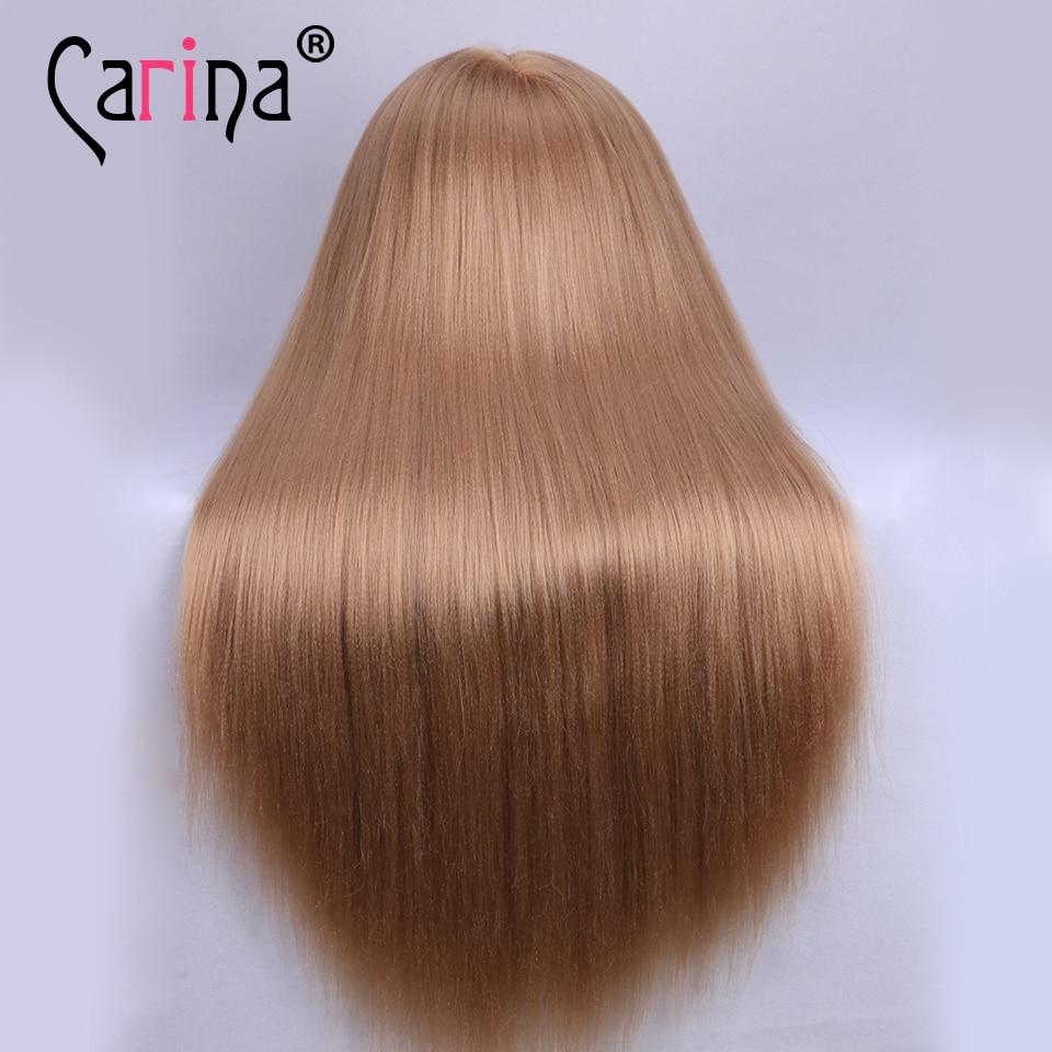 Professional Hairdressing Dolls Head Long Yaki Hair Female Mannequin Styling Training