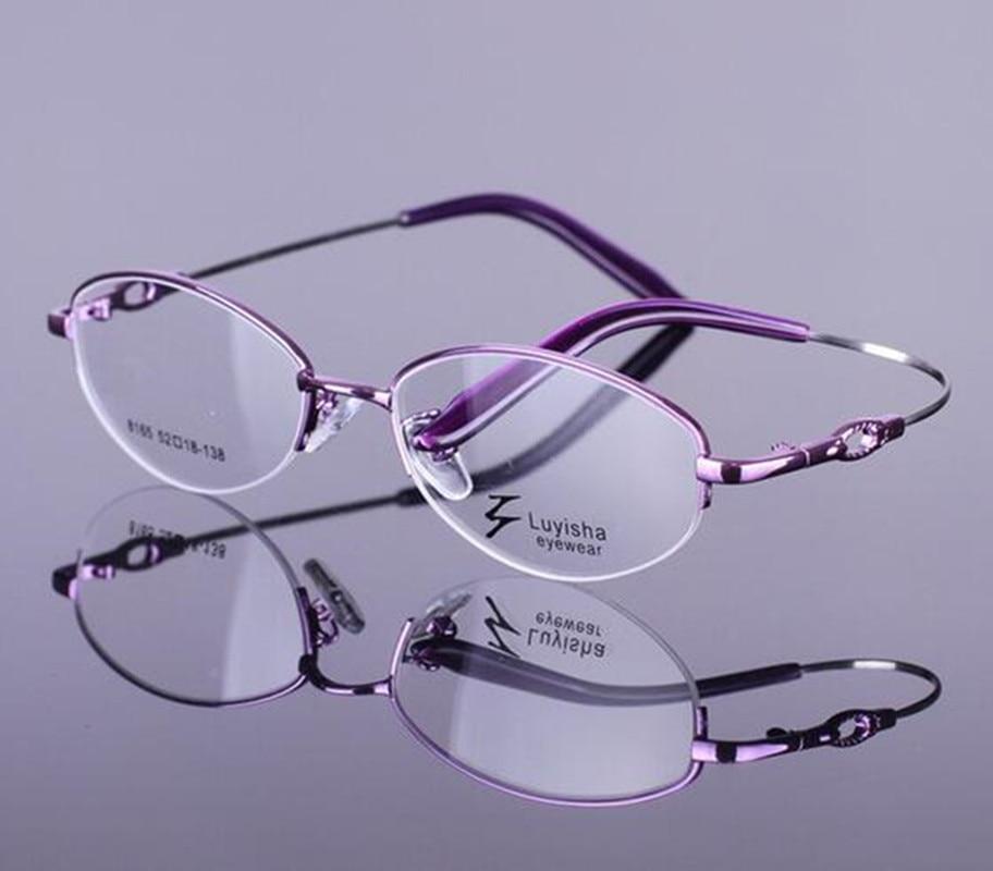Womens Eyewear Half Rim Eyeglasses Frame Optical Glasses ...