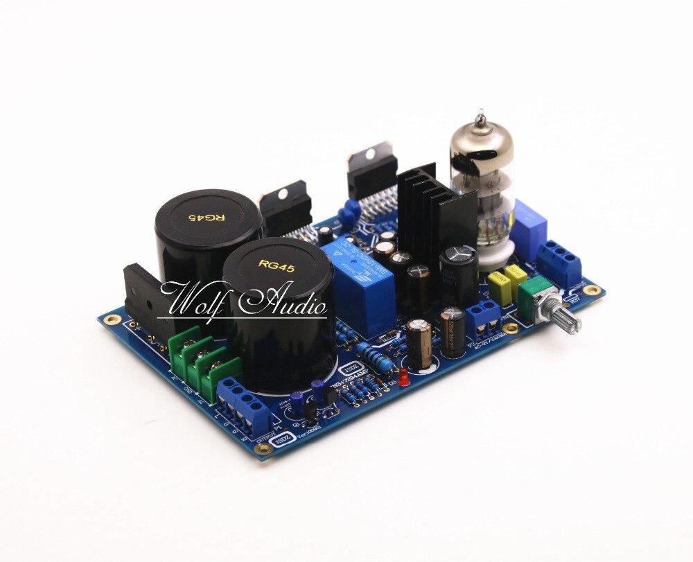 Bricolage HI-FI 6N3 Tube pré-amplificateur TDA7294 amplificateur Kit de carte 80 W + 80 W