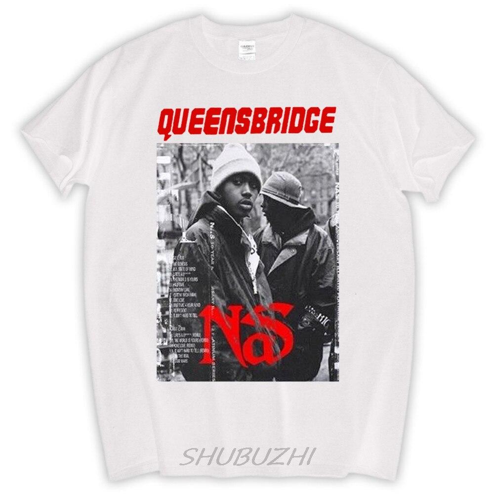 Nas queensbridge t-shirt coton t shirt t hommes fans top t-shirts