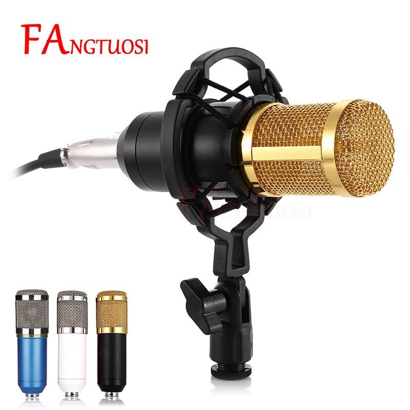 BM 800 Mikrofon Wired Kondensator Sound Mikrofon Mit Shock Mount Für Aufnahme Braodcasting BM-800 Mikrofon KTV Karaoke