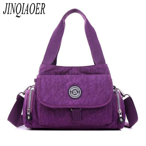 JINQIAOER Fashion Luxury Women Shoulder Bag Nylon Handbags Female Canvas Messenger Bags Famous Brands Designer Handbag sac bolso