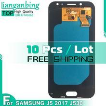 10 sztuk tSuper Amoled LCD do Samsung Galaxy AMOLED LCD J5 2017 J530 SM-J530F J530M wyświetlacz LCD + ekran dotykowy Digitizer zgromadzenie tanie tanio lianganbing CN (pochodzenie) Pojemnościowy ekran 1280x720 3 For J5 2017 J530 SM-J530F J530M LCD i ekran dotykowy Digitizer