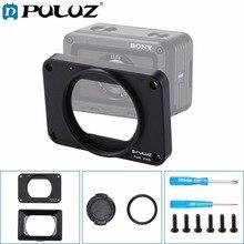PULUZ עבור Sony RX0/RX0 השני אלומיניום סגסוגת קדמי פנל + 37mm UV סינון עדשה + עדשת שמשייה & צוותי Scr עבור Sony RX0 אבזרים