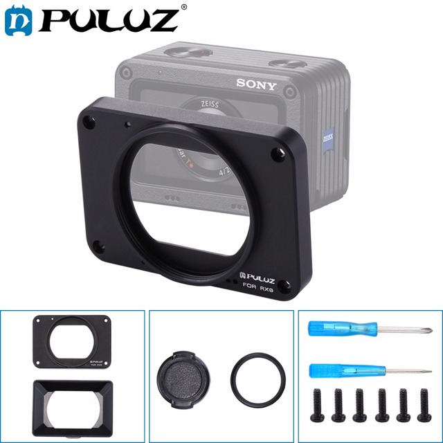 PULUZ for Sony RX0/RX0 II Aluminum Alloy Front Panel + 37mm UV Filter Lens+Lens Sunshade &crews and Scr For Sony RX0 Accessories
