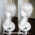 High Quality Shogo Makishima Medium Straight Long Silver White Anime Cosplay PSYCHO PASS Makishima Shogo Wig Synthetic Hair Wigs