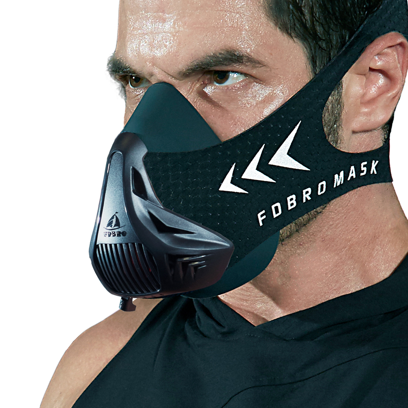 FDBRO Sports Masks Black Masks Men Women Phantom Good Quality Training Sport Fitness Mask2.0  EVA Package With Box Free Shipping